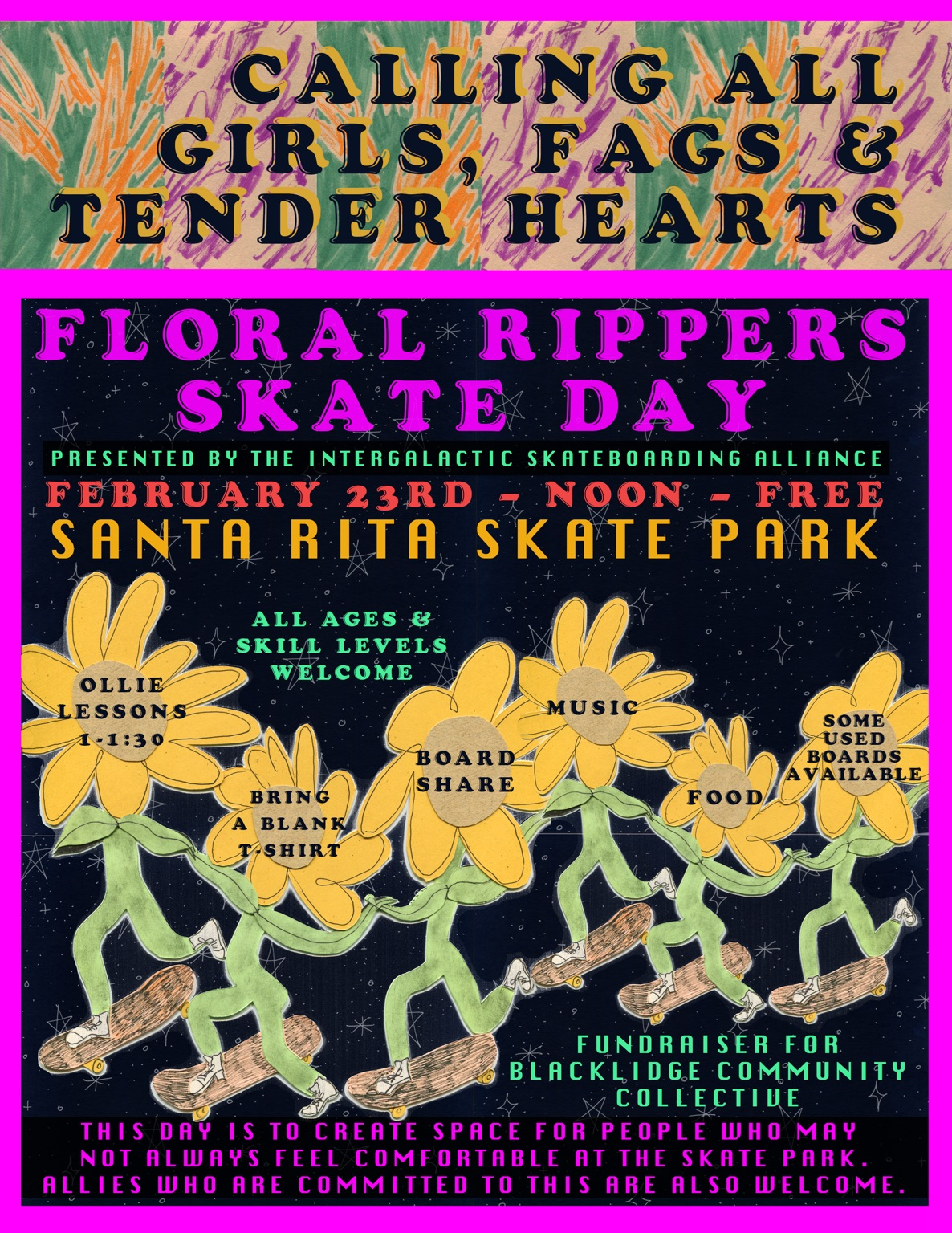 Floral Rippers Skate Day